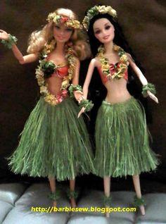 Barbie Doll Dress Up: Barbie Hula Dress