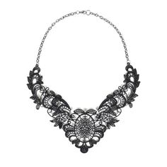 Lace Necklace in Black.   I <3 unique items & I believe this is as unique as they come. Just the right size to make a BIG statement!