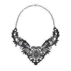 Joyus - Lace Necklace in Black