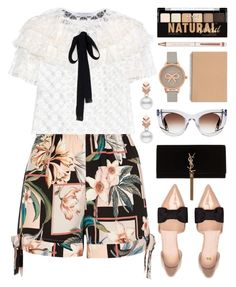 """In Paris"" by stavrolga ❤ liked on Polyvore featuring River Island, Philosophy di Lorenzo Serafini, H&M, Yves Saint Laurent, Escalier, Olivia Burton, NYX, Ted Baker, Thierry Lasry and vintage"