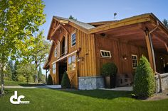 pole buildings with living quarters | DC Builders has the experience with post and beam building that allows ...