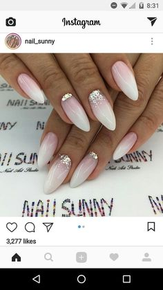 Französisch Maniküre Ideen Nail Ideas nail ideas to do at home French Nails, French Manicure Acrylic Nails, Wedding Acrylic Nails, Cute Nails, Pretty Nails, Pink Nails, My Nails, Short Fake Nails, Bride Nails