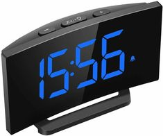 alarm clock for dorm room Modern Alarm Clock, Radio Alarm Clock, Bedroom Clocks, Cheap Electronics, Clock For Kids, Cool Tables, Bedroom Night Stands, Kitchen Office