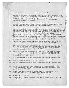 John Baldessari: Class Assignments. (optional), 1970 (Cal Arts Post Studio Art) John Baldessari, Drawing Prompt, Make Art, Art Projects, Project Ideas, Art Studios, Art School, Prompts, Cool Words