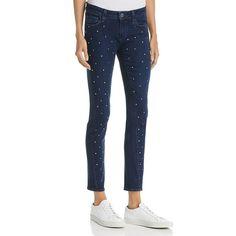 adc6107f3f (eBay Ad) Paige Womens Verdugo Blue Embellished Mid-Rise Skinny Jeans 26  BHFO 1308