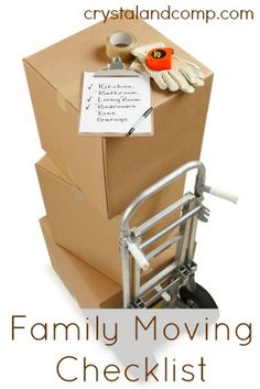 Planning a move? Here is a free printable Family Moving Checklist.