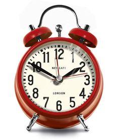 Small London Alarm Clock - Red design by Newgate