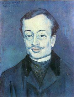 Portrait of Jaime Sabartes, 1904, Pablo Picasso Size: 49.5x38 cm Medium: oil on canvas
