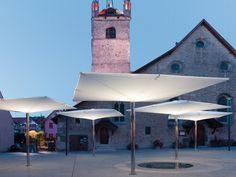Type AV Double membrane umbrella by MDT-tex | Textile buildings