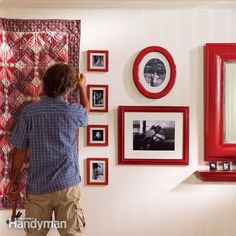 Learn how to hang pictures, heavy mirrors, keyhole shelves and quilts so that they're always straight, level and rock solid, no matter where you put them.
