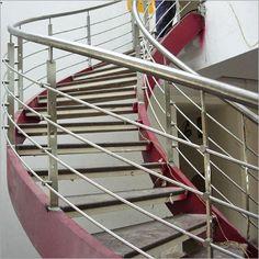 Balcony Railing Design, Home Stairs Design, Glass Railing, Stainless Steel Staircase, Stainless Steel Cable Railing, Steel Bed, Staircase Railings, Stair Case, Chennai