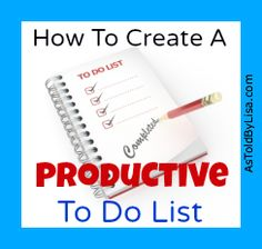 Great tips to help get everything done during the day.