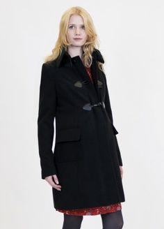 Queen mum - Black Duffle  Coat