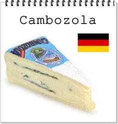 QUEIJO:  Cambozola ALEMANHA : LEITE: vaca CL ASSIFICAÇÃO: sendo uma combinação do queijo francês Camembert, com o queijo italiano Gorgonzola