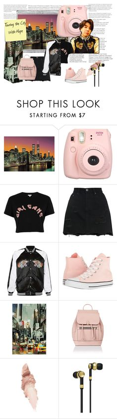 """""""Touring The City With Hope"""" by mochicandy on Polyvore featuring Polaroid, Brewster Home Fashions, Fujifilm, River Island, Converse, Home Decorators Collection, Post-It, Accessorize, Maybelline and Master & Dynamic"""