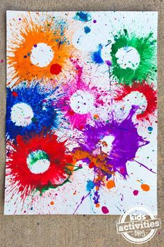 Exploding Paint Bombs - so much fun... maybe not for preschool...