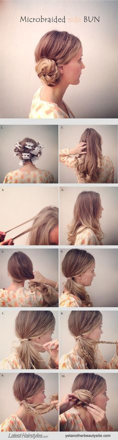 Where the Side-Swept Bun Meets Micro Braids: A Tutorial