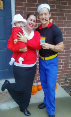 halloween costume 2015 popeye olive oyl and sweet pea