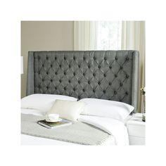 Safavieh London Linen Headboard, Grey