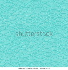 stock vector : colorful seamless abstract hand-drawn pattern, waves background
