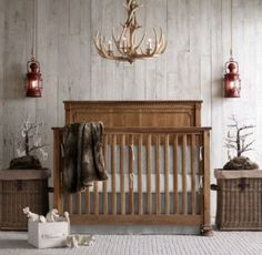 RH baby&child's Garment-Dyed Ticking Stripe Crib Skirt:Inspired by vintage ticking-stripe fabric, our bedding is woven from yarn-dyed pure cotton and washed to enhance its natural softness. California artisans tailor the pieces with care, then garment-dye them with environmentally friendly colors to produce an heirloom over-dyed look.