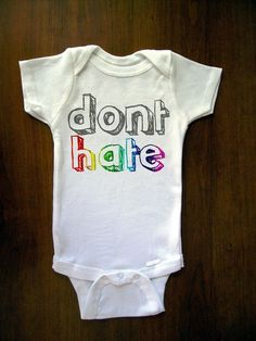 My baby needs this onesie! Maybe it's because I'm so excited about Pride this weekend, but this is great! #gaypride #baby