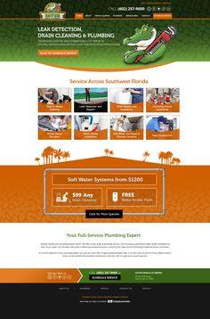 Web Design for Gator Drain & Plumbing