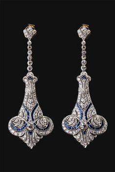 images of art deco art nouveau earrings - Google Search