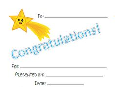 FREE Congratulations Certificates for any topic!