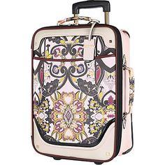 Pink scarf print wheelie suitcase £70.00