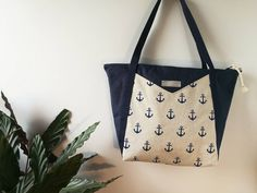 Shopper, Reusable Tote Bags, Etsy Shop, Beige, Fashion, Anchor, Sewing Patterns, Bags, Nice Asses