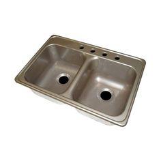 Lyons Industries DKS Deluxe Dual Basin Acrylic Kitchen Sink