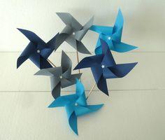 Süße Deko-Windmühlen für die Babyshower #babyshower #windmühle #dekoration #inspiration