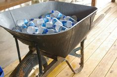 Cute idea for refreshments at a wedding reception in the party barn. www.mdresort.com