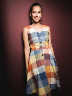 Mountain Meadow Plaid Dress - Fair Trade Winds
