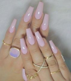 Have a look at our coffin acrylic nail ideas with different colors trendy coffin nails acrylic Trendy Nails, Cute Nails, Aycrlic Nails, Hair And Nails, Coffin Nails, Stiletto Nails, Pink Coffin, Best Acrylic Nails, Acrylic Nail Art