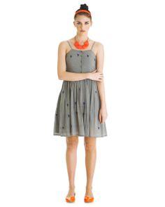 Birdy Dance Dress - Grey