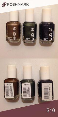 Essie Nail Polish Bundle Brand new winter nail polishes!  Repstyle. Crocadilly. Midnight Cami. Essie Accessories