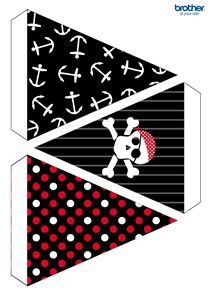 Party Bunting- has a lot of free printouts!Pirates Party Bunting- has a lot of free printouts! Deco Pirate, Pirate Day, Pirate Birthday, Pirate Theme, Boy Birthday Parties, Birthday Ideas, Decoration Pirate, Pirate Party Decorations, Party Themes