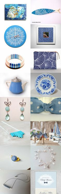 Blue and white  by Georgia on Etsy--Pinned with TreasuryPin.com
