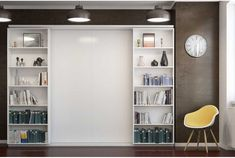 Pat rabatabil Dublu Sliding Suit Bookcase, Shelves, Suits, Closet, Home Decor, Shelving, Armoire, Decoration Home, Room Decor