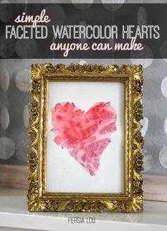 eighteen25: Simple Watercolor Hearts
