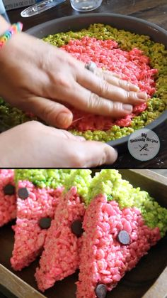 Watermelon Rice Krispies- cute summer time dessert idea for a potluck or party. … Watermelon Rice Krispies- cute summer time dessert idea for a potluck or party. Kids will love this treat Watermelon Birthday Parties, Luau Birthday, Watermelon Dessert, Watermelon Crafts, Birthday Party Decorations, Dessert Ideas For Party, Birthday Food Ideas For Kids, Party Ideas For Kids, Fun Recipes For Kids