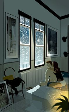 Winter mood - Hmmmm…I have an idea.. - What are you thinking? - How about we spend Winter in bed? #pascalcampion