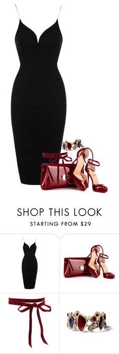 """""""LBD"""" by agreeson ❤ liked on Polyvore featuring Topshop, Chloe + Isabel, black, red, LittleBlackDress and blackdress"""