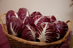 Radicchio Rosso Veronese IGP - Thanks to  the flourish of herbal medicine studios and to the rise of many botanical gardens, in '500 and '600, the radicchio was revalued and started to be used in salads. It is produced mostly in the countryside of Casaleone di Cologna Veneta and of Roveredo di Guà. Its main characteristic is its crispy and a little bitter taste. Rich of vitamins A and B, mineral salts and purifier properties. Try it grilled, with risotto.