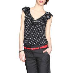 blusas con puntos a la moda 9 | Blusas de moda 2015