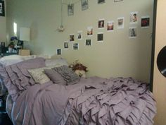dorm bed. Love this color