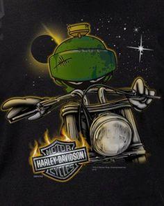 Αποτέλεσμα εικόνας για Harley Davidson Looney Tunes Marvin The Martian