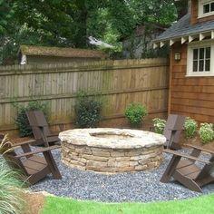 Hardscape Backyard Landscaping | Atlanta Landscape Backyard Fire Pit Design Ideas, Pictures, Remodel ... - natureb4
